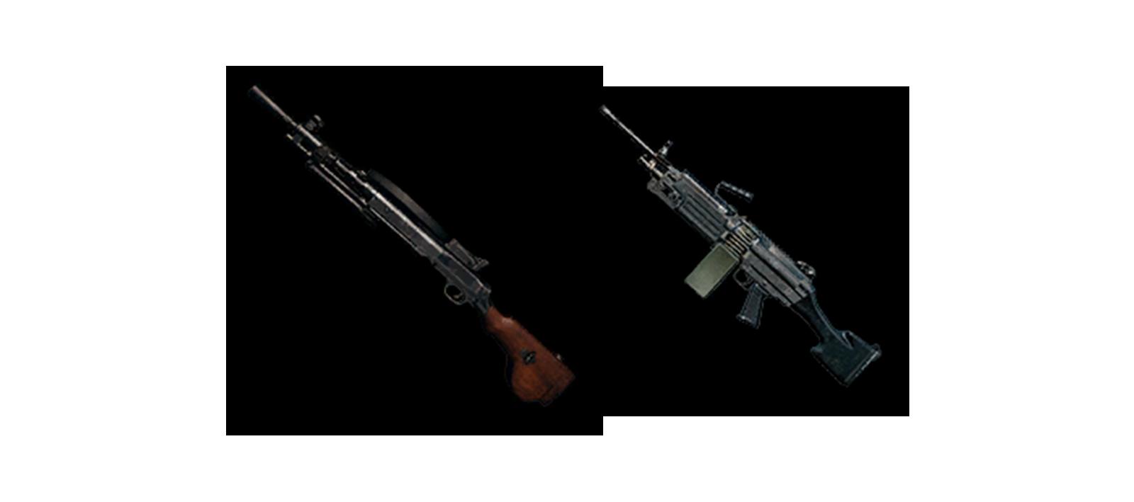 panduan senjata pubg lmg